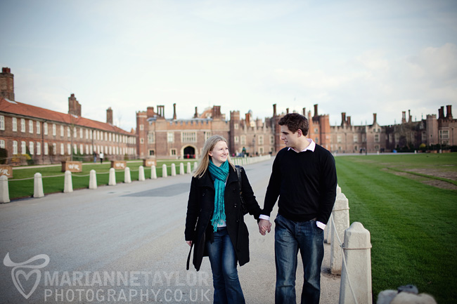 London Hampton Court engagement photography