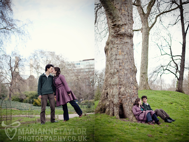 London Battersea Park engagement photography