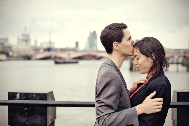 creative London engagement photography