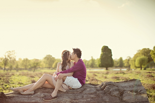 Marianne Taylor engagement photography London Bushy Park