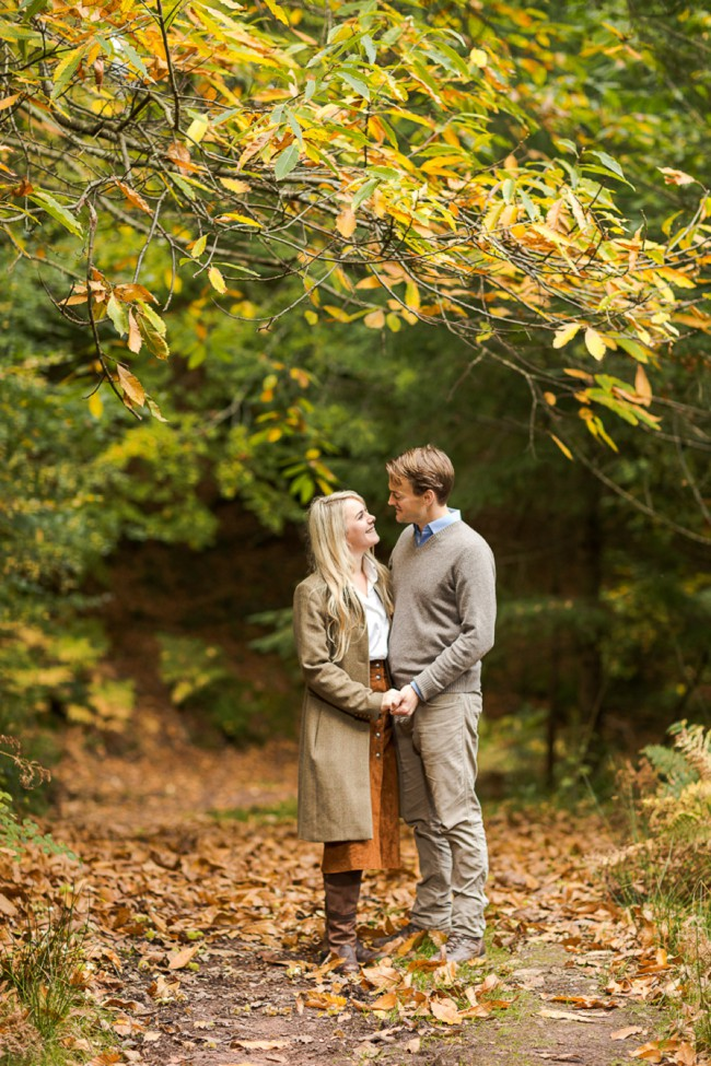 Autumnal engagement photography in Somerset by Marianne Taylor.