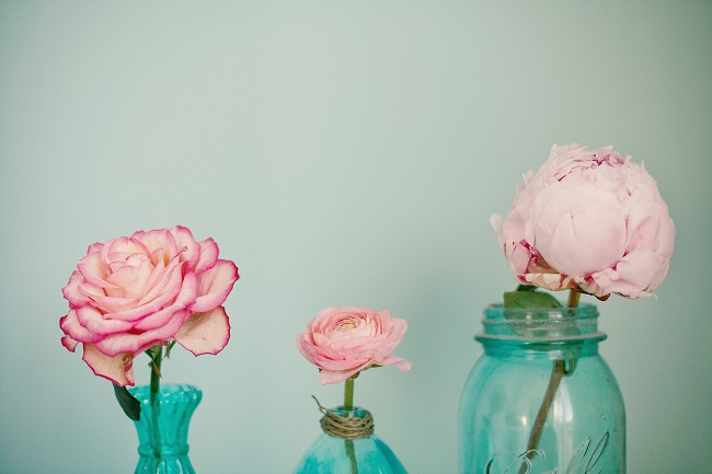 pink turquoise flowers marianne taylor
