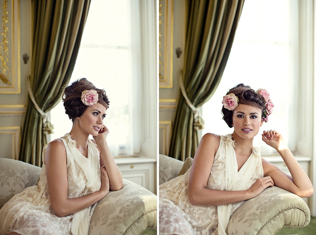 Bridal Hair by Hepburn Collection photographed by Marianne Taylor