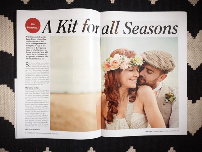 F2 freelance photographer magazine December 2013