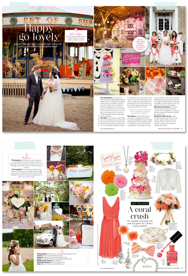 Wedding Flowers magazine May June 2014
