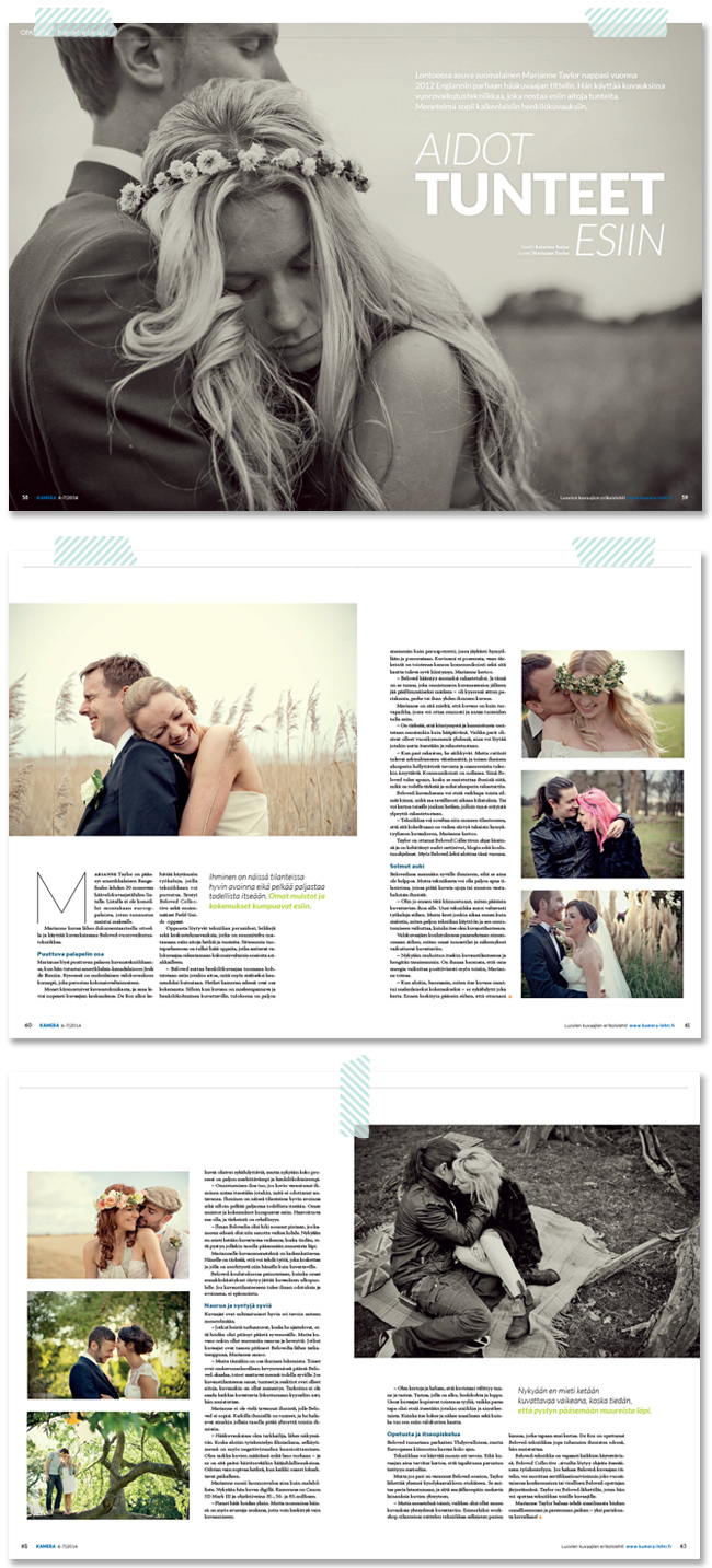 Marianne Taylor Photography in Kamera magazine