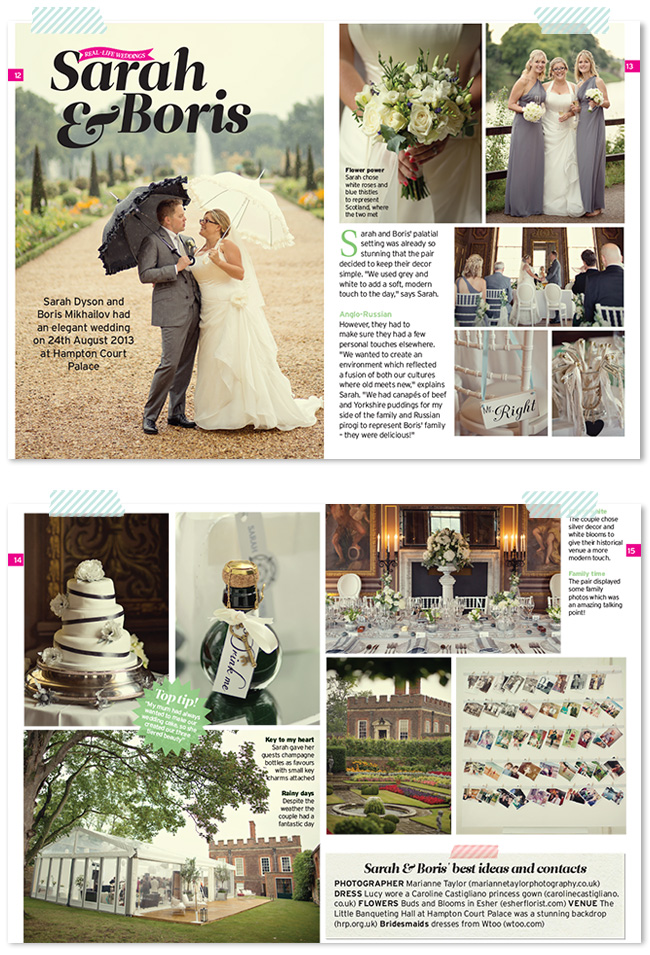 Marianne Taylor Photography in Perfect Wedding magazine
