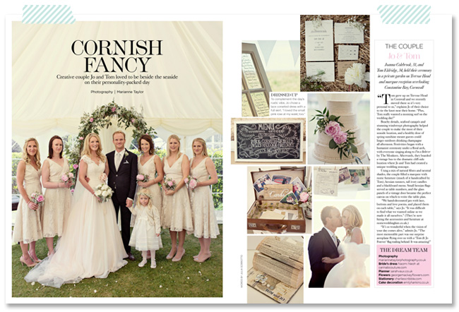 Marianne Taylor Photography in You & Your Wedding Magazine