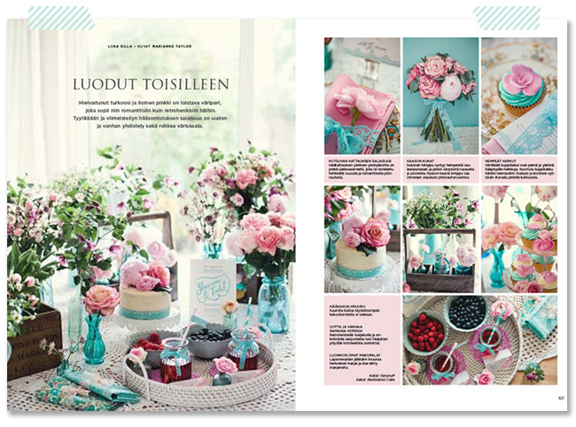 Marianne Taylor Photography in Mennaan Naimisiin magazine in Finland.