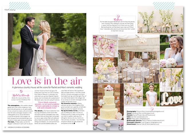 Marianne Taylor Photography in Wedding magazine.