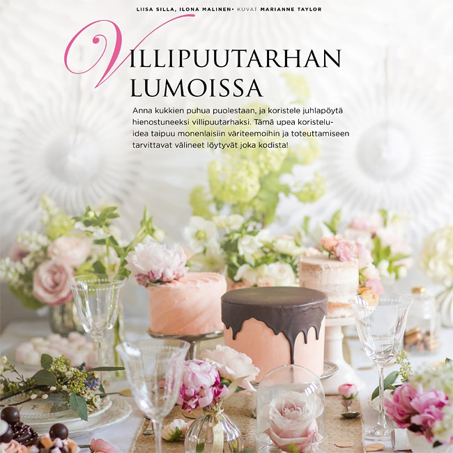 Flower editorial in Mennään naimisiin! magazine