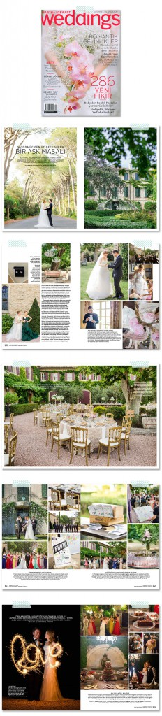 Marianne Taylor Photography featured in Martha Stewart Weddings Turkey, Spring-Summer 2015.