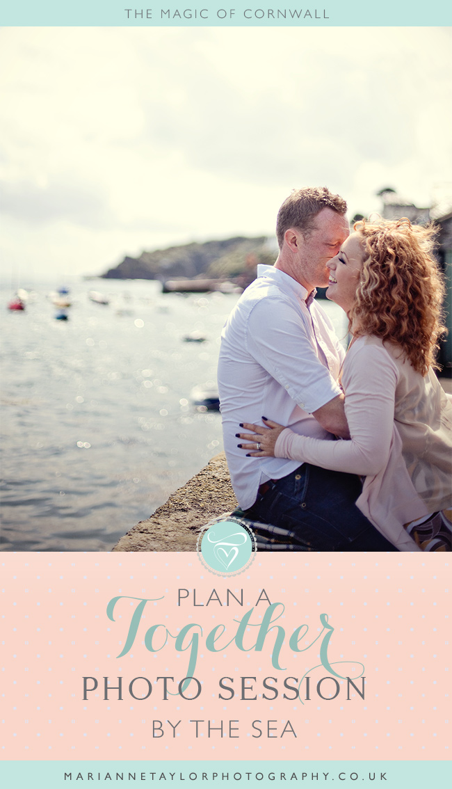Plan a together photography session in Cornwall. Click through for tips for places to stay and see!
