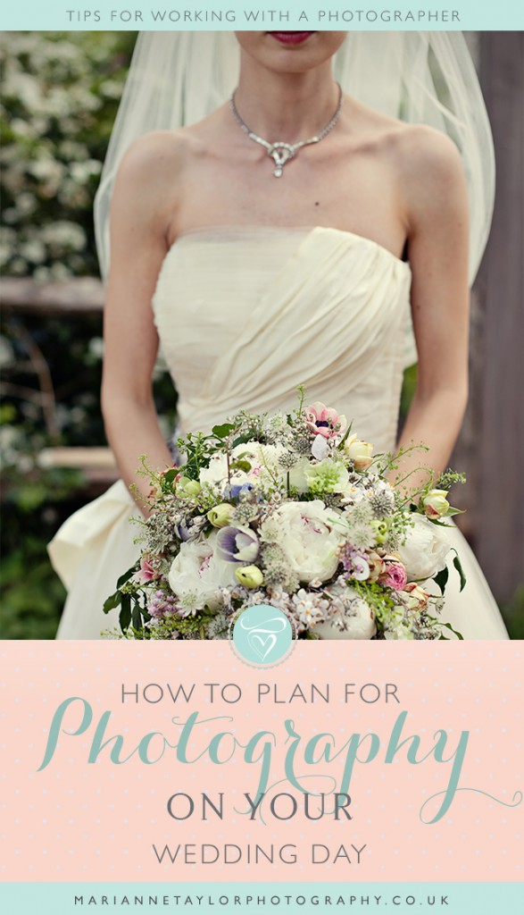 How to plan for photography on your wedding day