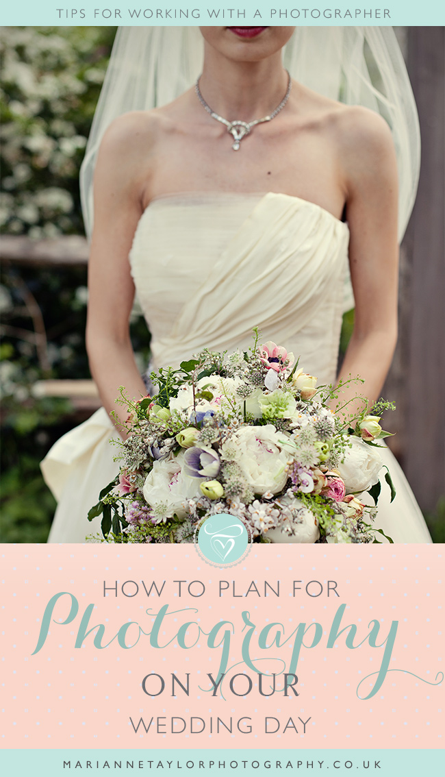 How to plan for photography on your wedding day. Click through to read.