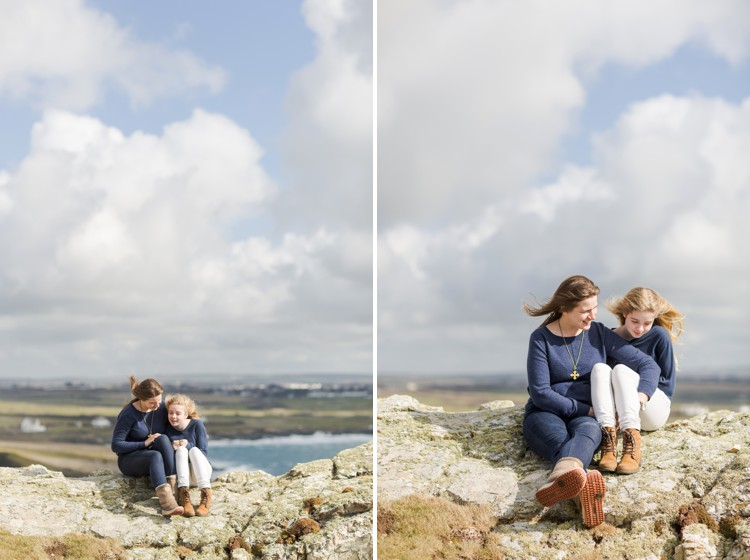 The Magic of Cornwall - Windswept mother & daughter family shoot by the sea by Marianne Taylor. Click through to see more!