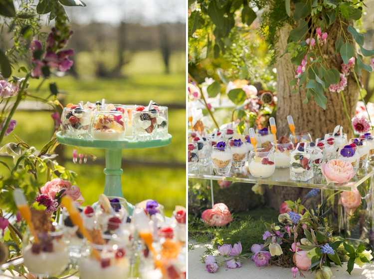 A magical springtime dessert table. Click through to see more!