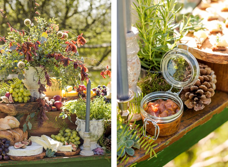 Beautiful rustic autumnal charcuterie table. Click through to see more!
