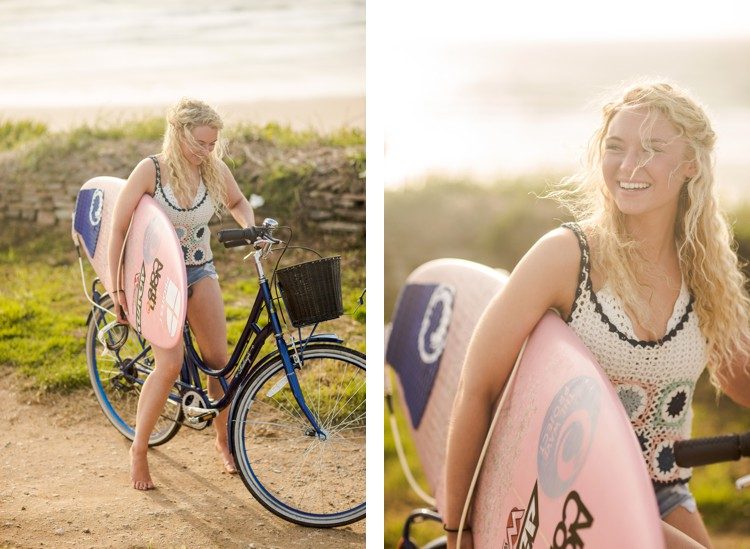 Cornwall lifestyle portraits of surfer Lucie Donlan by Marianne Taylor. Click through to see more!