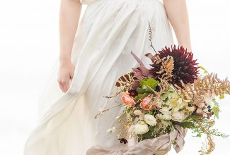 Autumnal bridal inspiration shoot by the ocean