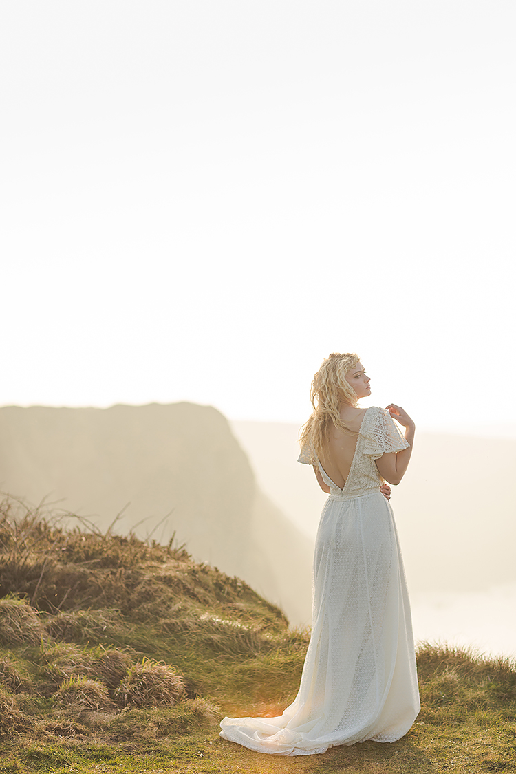 Siren of the Sea Portrait in Cornwall. Marianne Taylor Photography.