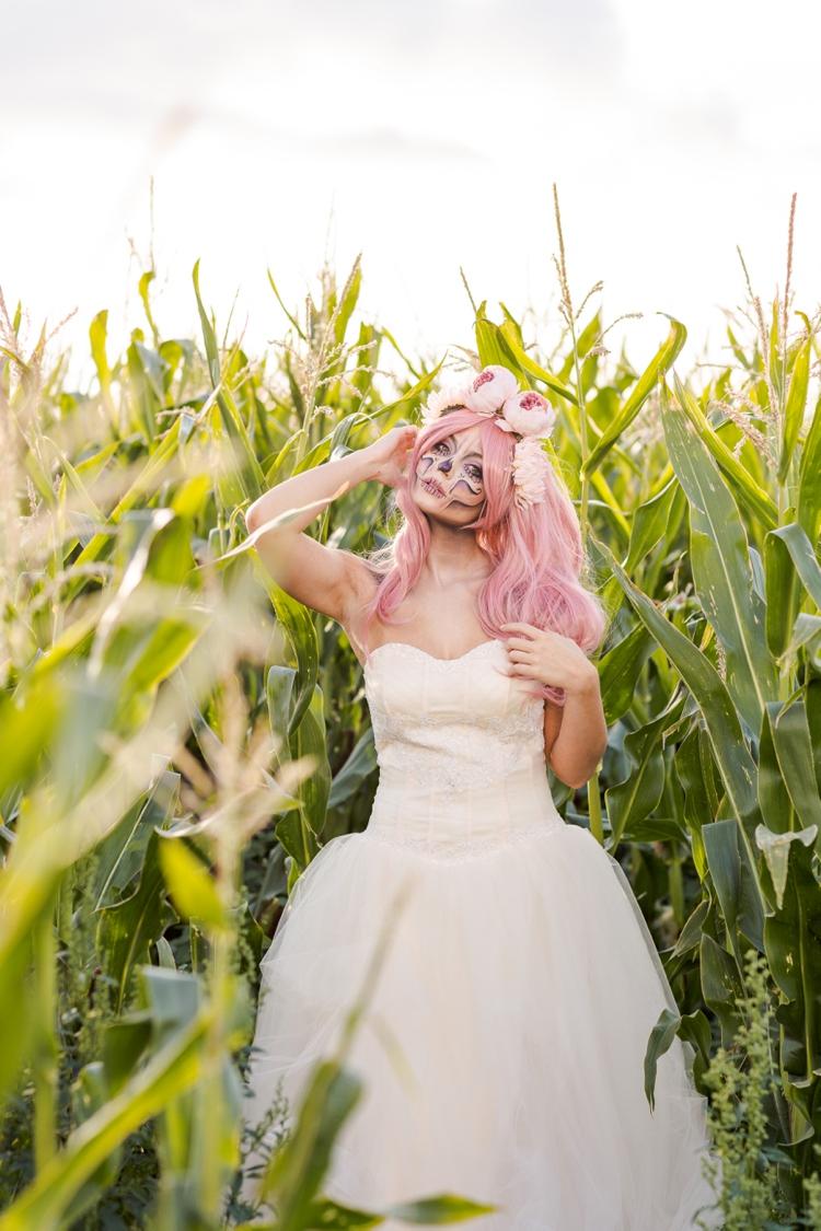Halloween candy skull bride.